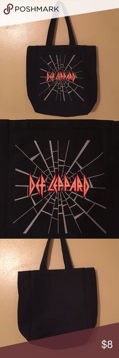 NWOT Def Leppard Canvas Bag Brand new never used Def Leppard black Canvas bag! Bags Totes