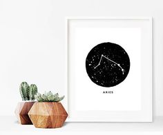 Aries Zodiac Luxury Pen & Ink Illustration Print or Luxury Pens, Zodiac Capricorn, Taurus, Zodiac Constellations, Zodiac Star Signs, Ink Illustrations, Abstract Print, I Shop, A5