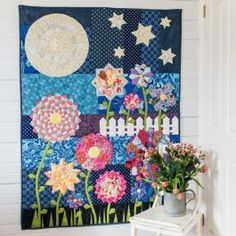 Spring at Midnight Quilt By Paula Storm