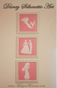 Disney Silhouette Art these are perfect for any kids room who loves Disney and you can do them with any characters