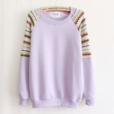 2016 autumn/winter casual sweatshirts for women high quality vintage knitting stitching sleeve pullovers sweatshirts 6 colors