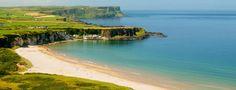 Portrush Whiterocks Beach, Northern Ireland near the Antrim Coast.
