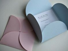 these look just like my wedding invitations, only red and rectangular :)