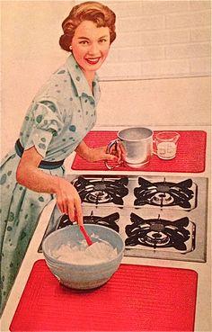 Domestic goddess, 1950s