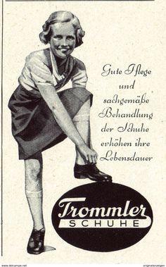 Original-Werbung/ Anzeige 1942 - TROMMLER KINDER - SCHUHE - ca. 45 X 75 mm
