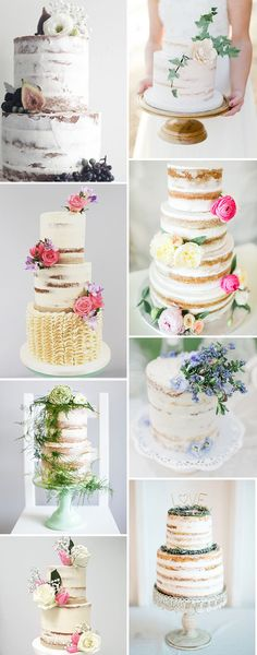 Simply Beautiful Crumb Coat Wedding Cake Ideas | See more on www.onefabday.com