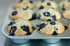 Blueberry Muffins with Yogurt :: Ellen F via the Pioneer Woman