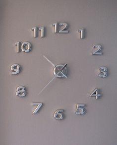 Numeri a parete per l'orologio fai da te