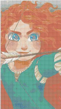 Princess Merida graphgan pattern