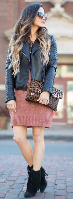Mia Mia Mine Lace Up Sweater Dress Fall Street Style Inspo #Fashionistas