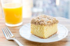 Orange Coffee Cake with Cinnamon Streusel Topping