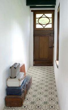 Realisatie met Rozetta; keramische cementtegel Revoir Paris