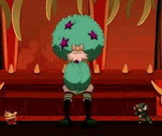 Ruel knows how to cheer. From the Wakfu Anime