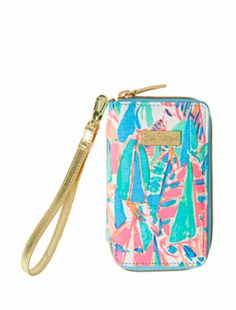 Lilly Pulitzer Tiki Palm iPhone 6/6s Wristlet - Out To Sea