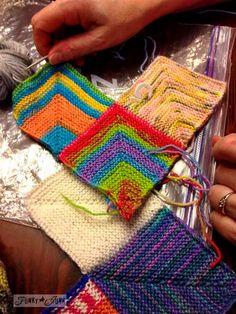Knitting with sock yarn at Starbucks via http://www.funkyjunkinteriors.net/