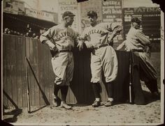 Former Red Sox players Tris Speaker and Joe Wood visit Fenway Park as Cleveland Indians.