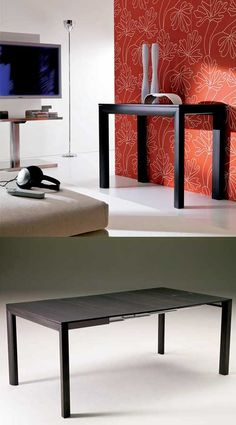 Our Minima table closes to save room and opens to seat a large party!