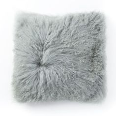 Mongolian Lamb Pillow Cover - Light Sage - Insert Not. by West Elm Kim Kardashian, Fluffy Cushions, Family Room Decorating, Upholstered Ottoman, Affordable Bedding, Decorative Pillow Covers, Bedding Collections, West Elm, New Furniture