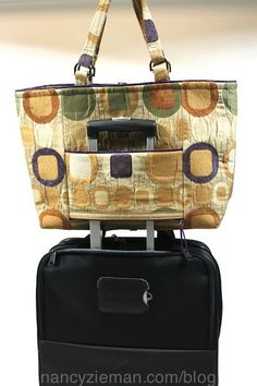 Nancy Zieman How to Sew a Smart Zippered Pocket that Converts to a Sleeve for Sliding Over Luggage Handle