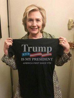 Pictures Speak 1000 words! HAHAHAHA  Hillary secretly Luvs Donald too!