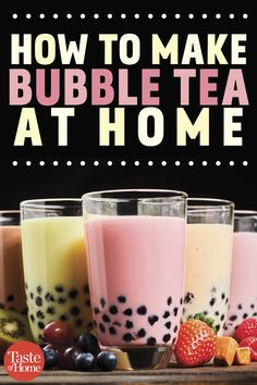 Yes, You Can Make Bubble Tea at Home. How to Make Bubble Tea at HomeYou can find Bubble tea and more on our website.Yes, You Can Make Bubble Tea at Home. Fun Drinks, Yummy Drinks, Healthy Drinks, Beverages, Dinner Healthy, How To Make Bubbles, How To Make Tea, Starbucks Drinks, Coffee Drinks