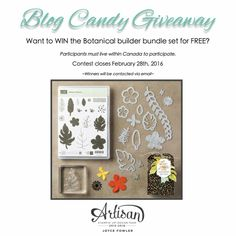 Enter to WIN the Botanical Builder bundle, Blog candy givewaway by Joyce Fowler | www.craftwithjoyce.ca