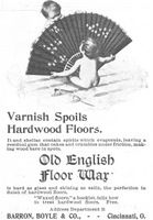Old English Floor Wax 1898 Ad Picture