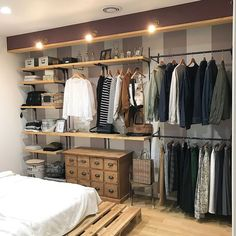 Awesome 44 Creative Open Closet Design Ideas For Your Bedroom That You Need To Have Bedroom Closet Design, Wardrobe Design, Closet Designs, Closet Rooms, Closet Wall, Open Wardrobe, Wardrobe Closet, Bedroom Orange, Diy Apartment Decor