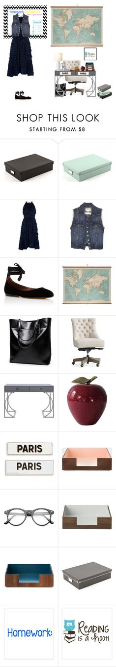 """Teacher/classroom"" by lydiaanaleisa ❤ liked on Polyvore featuring Home Decorators Collection, Whistles, Current/Elliott, Tabitha Simmons, WALL, Pottery Barn, Worlds Away, Rosanna and ferm LIVING"