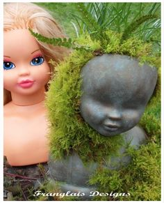 Step by step instructions for turning an old doll into a unique planter.  Took me a few minutes, but I tracked down the original posting to get the details. :)