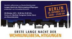 Wohnungsbesichtigungen im Mondschein: Die erste Lange Nacht der Wohnungsbesichtigungen startet am 20. Oktober in Berlin   14.10.2011