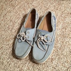 Sperry Classic Boat Shoes Powder blue boat shoes- never been worn! Basically as good as new! Sperry Top-Sider Shoes Flats & Loafers