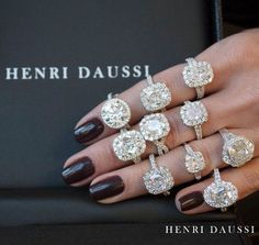 Which ring would you choose? #diamonds #engagementring #haloring #sparkle #wedding