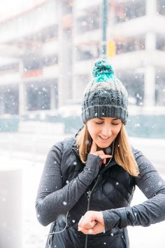 Cute activewear for snow running