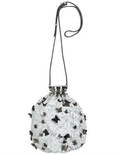 INES FIGAREDO - BUTTERFLY NAPPA LEATEHR BUCKET BAG - INES FIGAREDO
