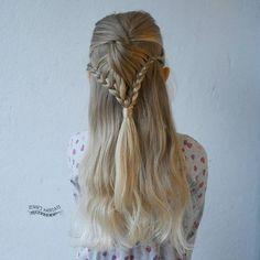 Half up lace braid style, puoliranskalainen letti