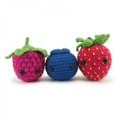 Very Berry Trio Amigurumi Pattern