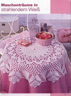 Home Decor Crochet Patterns Part 76 - Beautiful Crochet Patterns and Knitting Patterns Thread Crochet, Filet Crochet, Crochet Motif, Crochet Designs, Crochet Tablecloth Pattern, Crochet Bedspread, Crochet Kitchen, Crochet Home, Doily Patterns