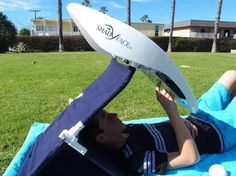 ShadyFace's Portable Entertainment System & Sunshade allows you to relax on the beach and watch your favorite movie on your tablet without worrying about the sun getting in the way.