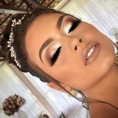 natural makeup - - natural makeup Beauty Makeup Hacks Ideas Wedding Makeup Looks for Women Makeup Tips Prom Makeup ideas Cu. Formal Makeup, Prom Makeup, Girls Makeup, Hair Makeup, Makeup For Quinceanera, Vegas Makeup, Pageant Makeup, Glowy Makeup, Cute Makeup