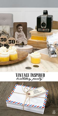 Great ideas for a vintage inspired birthday party! www.livelaughrowe.com #MYMMS #ad