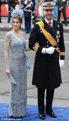Princess Letizia and Prince Felipe of Spain, los Príncipes de Asturias, España.