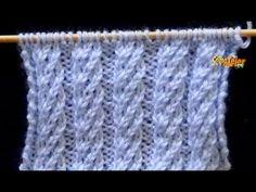 "Punto (puntada) ""CALENTITO""(se parece a punto arroz). Tejido con dos agujas # 271 - YouTube Knitting Stiches, Knitting Videos, Baby Knitting, Knitting Designs, Knitting Projects, Crochet Projects, Bobble Stitch, Chain Stitch, Stitch Patterns"