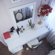Vanity, Mirror, Instagram, Home Decor, Dressing Tables, Powder Room, Decoration Home, Room Decor, Vanity Set