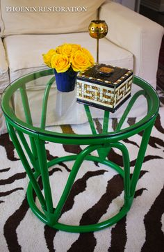Emerald Bamboo Table {by: Phoenix Restoration}