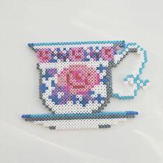 Tea cup hama beads by fjarilsvingar