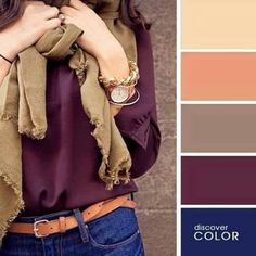 15 Ideal Color Combinations to Make You Look Great - Damenmode Looks Style, Style Me, Trendy Style, Look Fashion, Womens Fashion, Fall Fashion, Fashion Room, Trending Fashion, Grunge Fashion