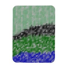 A trendy abstract pattern with many small colored rectangle in the color blue, green and black. You can also Customized it to get a more personally looks. #colorful #trendy #abstract #modern #stylish #rectangle-tile #rectangle-shapes #green-rectangle black-rectangle