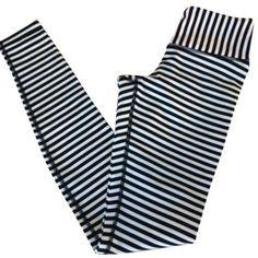 Pre-owned Lululemon Black White New With Tags Wunder Under Pants Full Length Siz