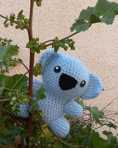 "Koala -  Free Amigurumi Pattern - PDF File - Click ""download"" or ""free Ravelry download"" here: http://www.ravelry.com/patterns/library/koala-9"